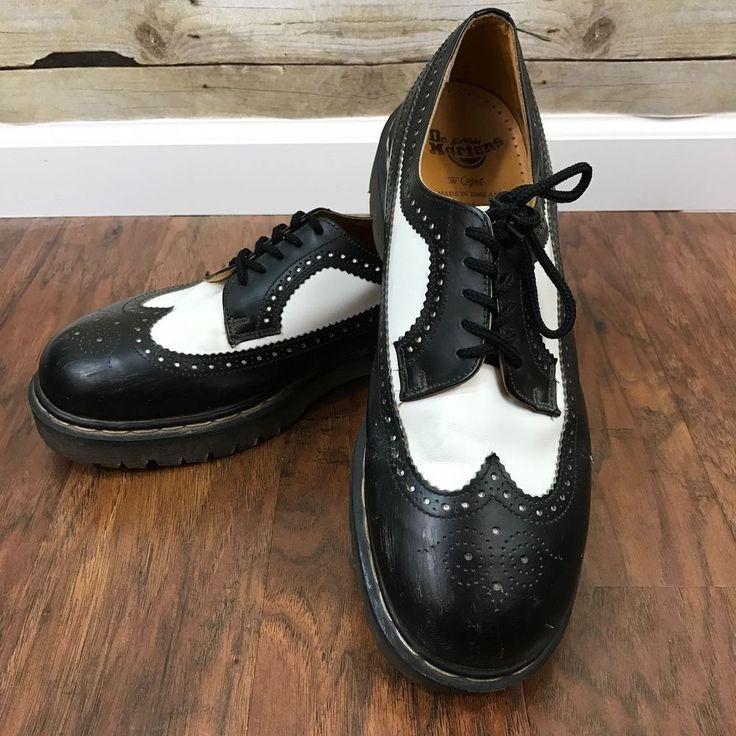 Vintage DR MARTENS DOCS Mens 12 Black White Wingtips Oxfords Brogues ENGLAND | Clothing, Shoes & Accessories, Vintage, Men's Vintage Shoes | eBay!