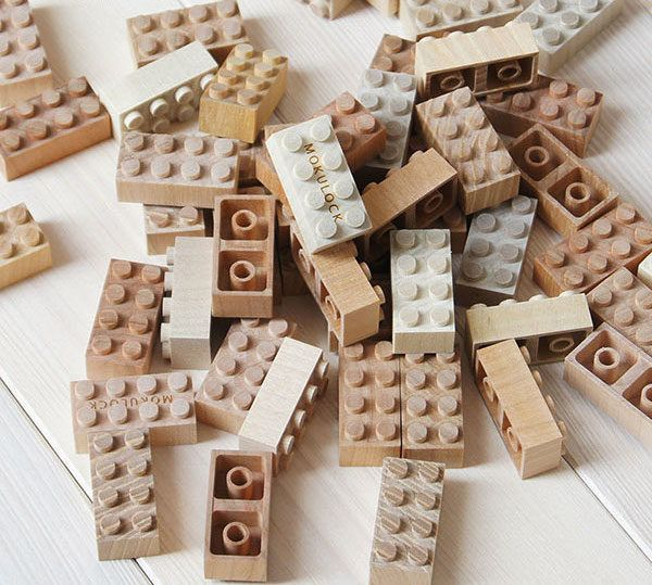 Wooden Bricks (60 Pieces) | Kids Toy Room | Wooden baby toys
