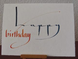 KARTENTRAUM: Kalligraphie