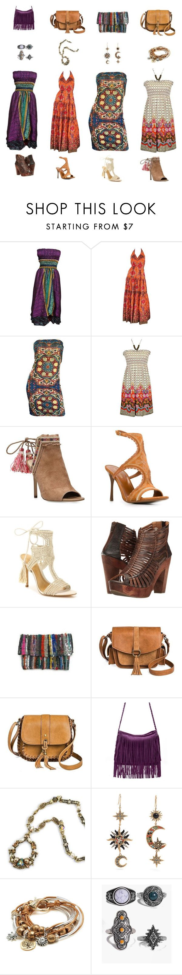 """Untitled #431"" by susy-1697 ❤ liked on Polyvore featuring Frank Usher, Todd Oldham, jon & anna, Sam Edelman, Sergio Rossi, Schutz, Sbicca, T-shirt & Jeans, Sweet Romance and Roberto Cavalli"