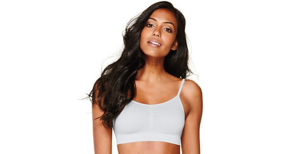 Sports bras are great to sleep in if boobs are growing too big during pregnancy and get in the way