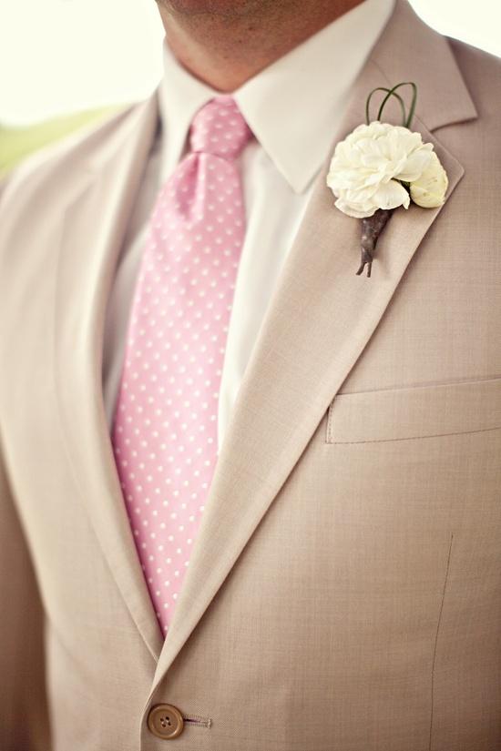 beige groom attire