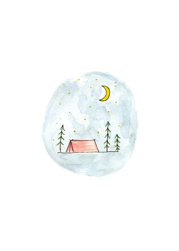 Camping Print by littlemepaperco on Etsy