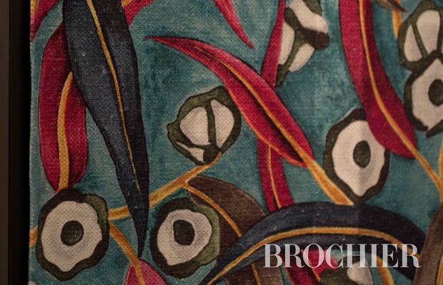 INCANTO #fabric by BROCHIER Contemporary floral, proposed in sophisticated colors printed on a full-bodied blended linen. Ideal for curtains and upholstery.