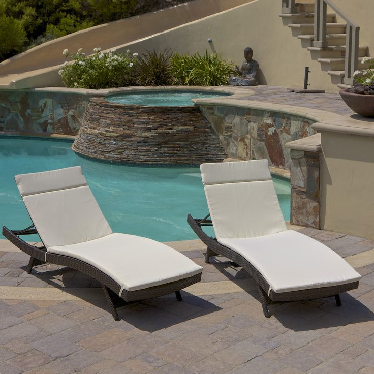 Lakeport Outdoor Adjustable Chaise Lounge Chairs With Cushion (Set Of 2) Ideas