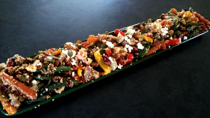 Roasted Vegetable, Feta & Couscous Salad with Pumpkinseed