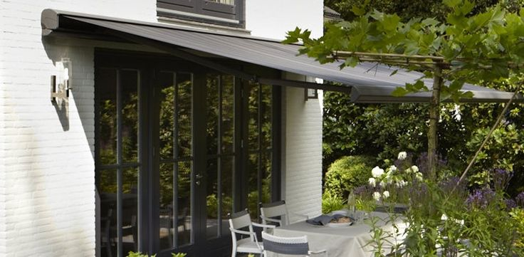 Decorative exterior flair for your home with Luxaflex Awnings. #home decor #awnings #luxaflex