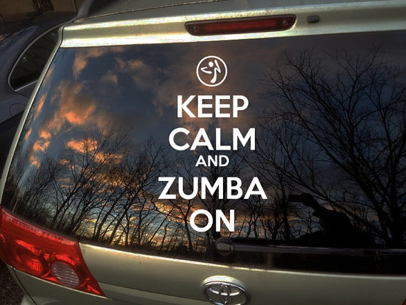 Keep calm and zumba on car decal