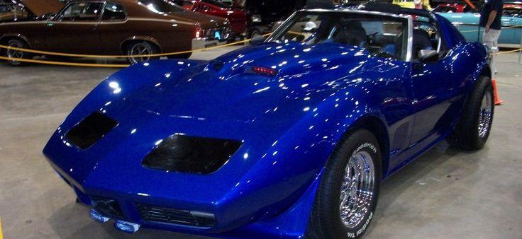 1974 Chevrolet Blue Corvette Stingray, Fully Customized