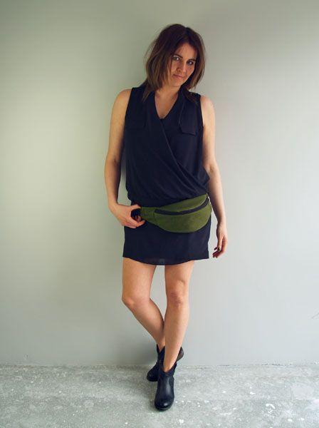 http://puroldesign.pl/nerka-saszetka-designerska-unisex #nerka #bottlegreen