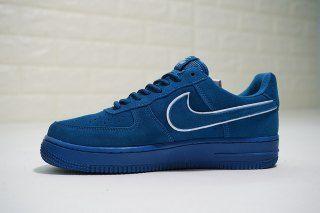 c5d5dac8d631c Mens Womens Shoes Nike Air Force 1 07 LV8 Suede Noise Aqua Blue Force  Summit White AA1117 400