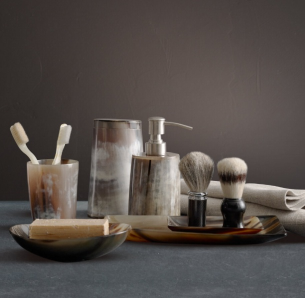 Natural Horn Bath Accessories By Restoration Hardware