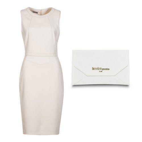 Brautmode fürs Standesamt: Das kleine Weiße Ein Etuikleid in Weiß- oder Cremetönen - für das Standesamt immer eine gute Wahl. Die knieumspie...