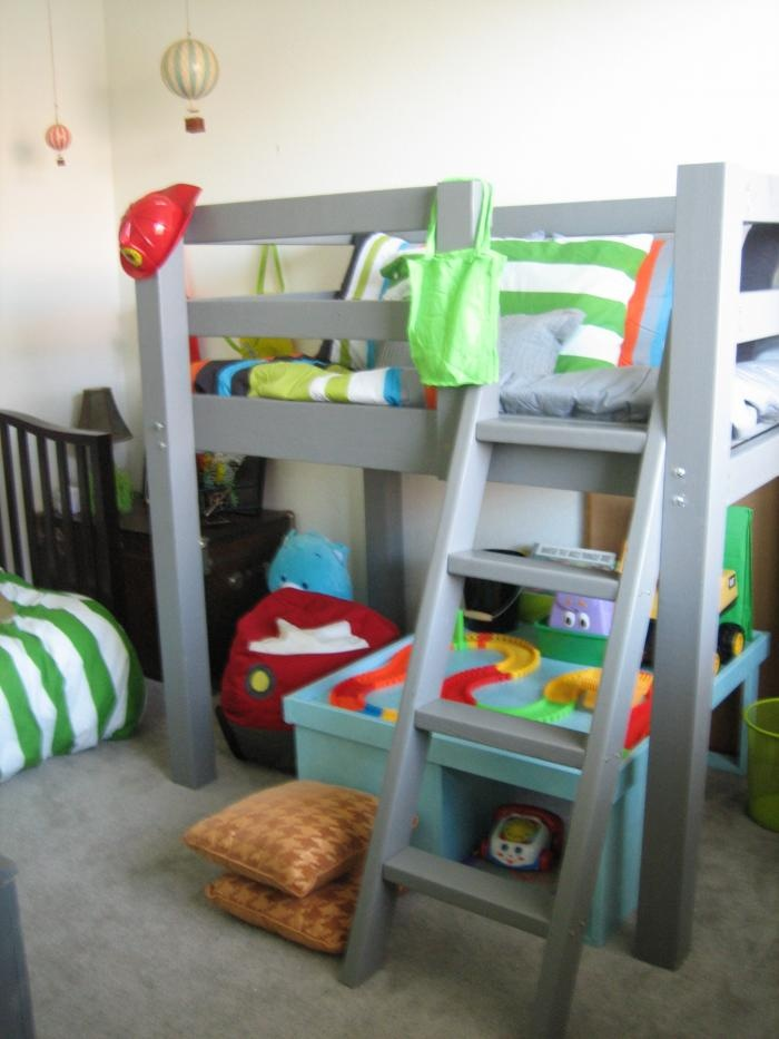 loft bed.. we will be needing something similar soon for the bug