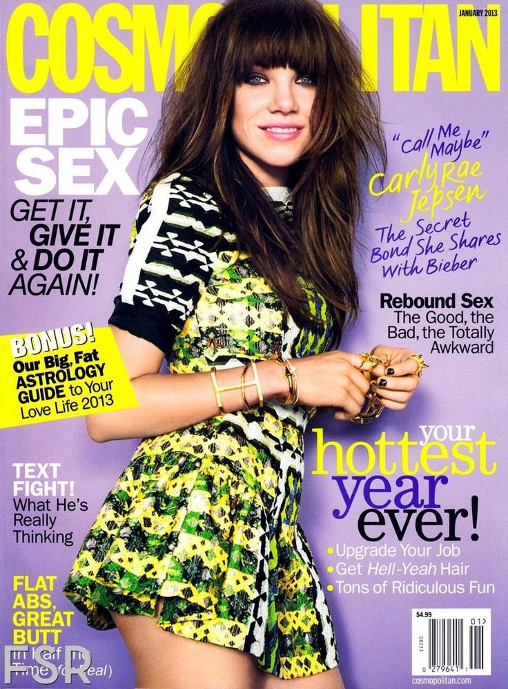 Carly Rae Jepsen for Cosmopolitan Magazine United States January 2013