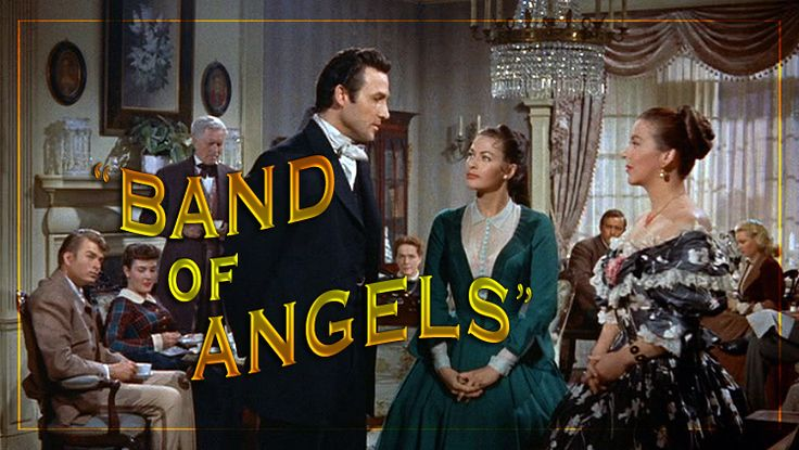 """Patric Knowles, Yvonne De Carlo and Andrea King in the Warner Bros. lavish saga of the South """"Band of Angels"""" (1954)."""