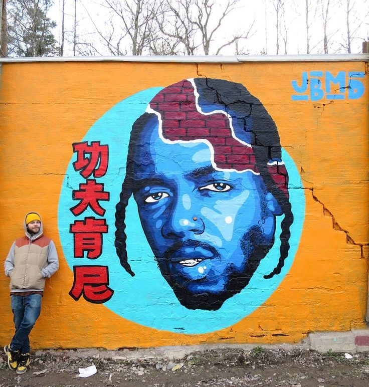 Kung Fu Kenny Portrait of rapper @kendricklamar Painted in #Stockholm  by @johnbeijer  #globalstreetart #wallart #damn #kendrick  http://globalstreetart.com/john-beijer