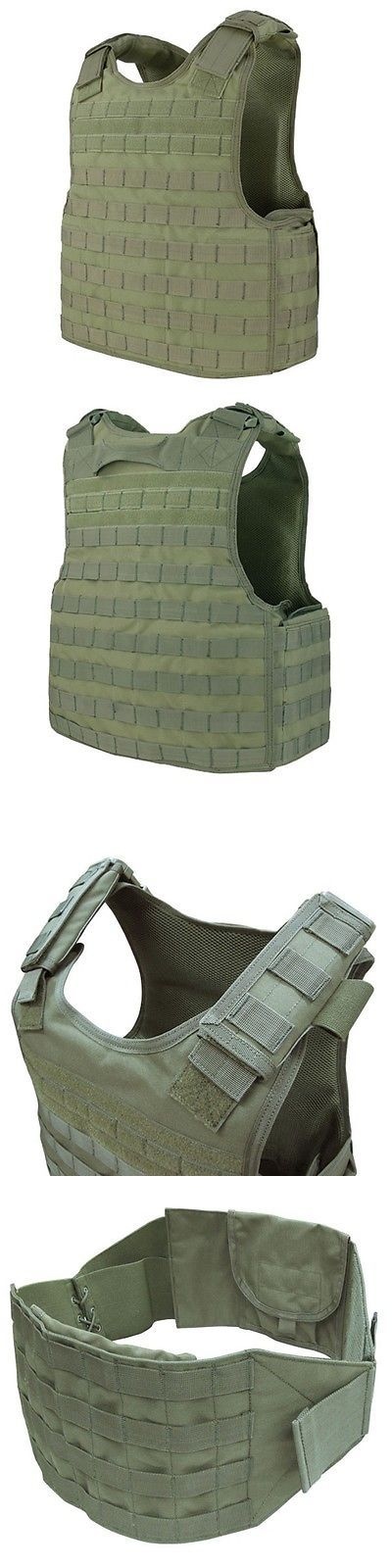 Clothing and Protective Gear 159044: Condor Od Green Dfpc Tactical Defender Molle Pals Body Armor Plate Carrier Vest BUY IT NOW ONLY: $95.95