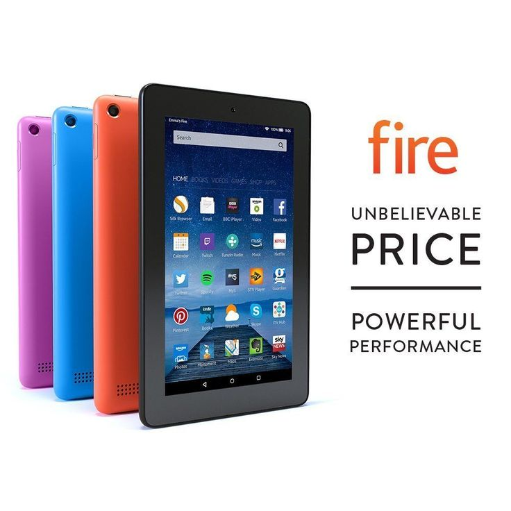 £36 Kindle Fire 7 Tablet with Alexa , 8GB, Latest Model-Black