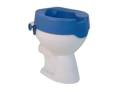 #Toiletstoel verrijdbaar TSE 100S Art. nr.: 523500000  Zitcomfort voor thuisgebruik  Maximale opening door twee hygiëne uitsparingen Eenvoudige montage zonder gereedschap De draaiknoppen zorgen voor een eenvoudige montage Gemaakt van PU kunststof Het gladde oppervlak zorgt voor een eenvoudige reiniging Zitting loopt konisch toe voor meer zitcomfort