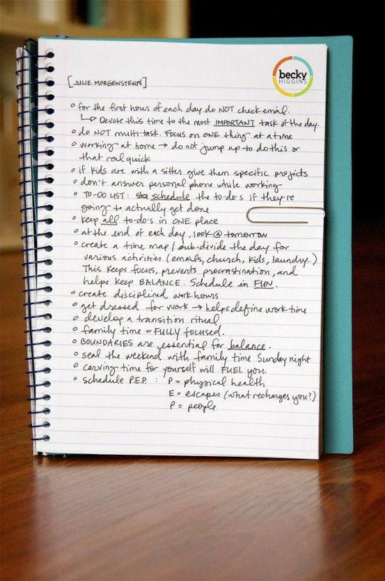 Really great time management tips