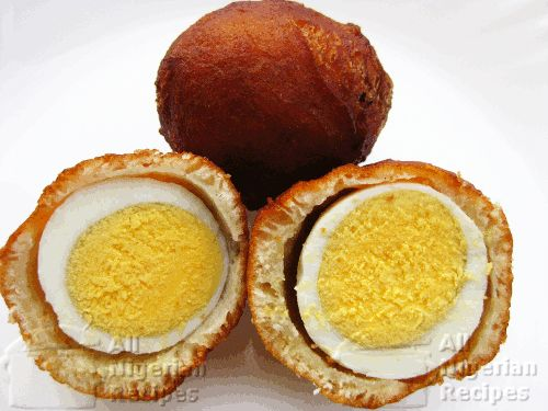 Nigerian Egg Roll is similar to Scotch Eggs but instead of meat, we use batter made from flour to cover the eggs.