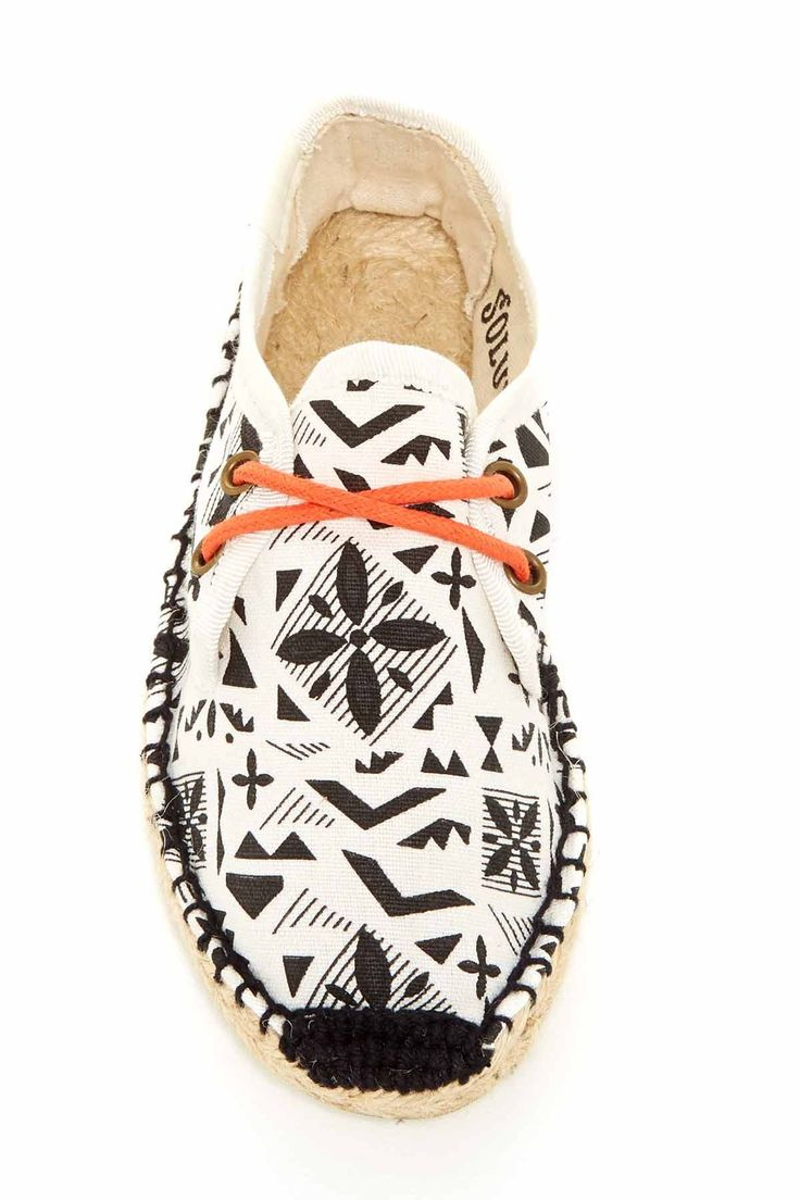 Soludos   Derby Print Lace-up Espadrille (Little Kid) #shoes