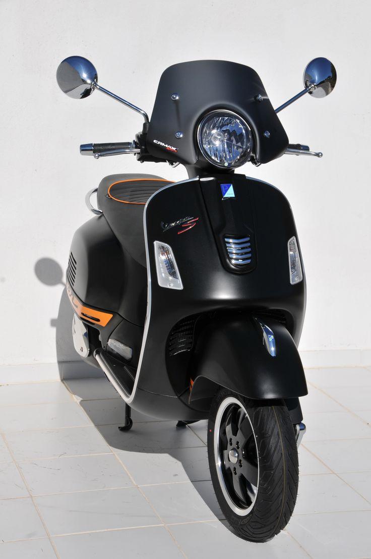 """Black satin Ermax 30cm """"Piccolo"""" windshield for 125/300 GTS"""