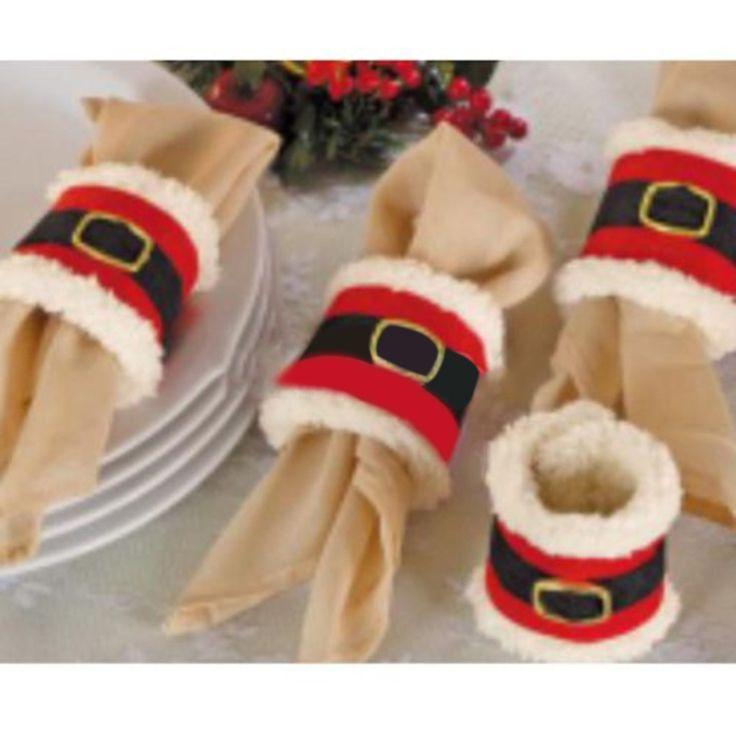 Aliexpress.com: Kaufen Sie 4 stücke Weihnachten Serviettenringe Hochzeit Halter Party Bankett Decor von zuverlässigen Lieferanten auf ...