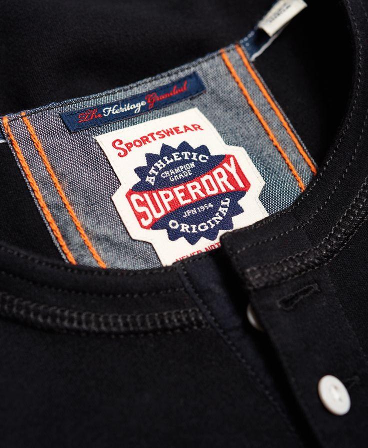 Superdry Top Heritage Grandad - Suéteres para Hombre