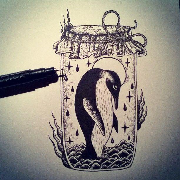 #penandink #blackwork #shapefromhell #penguin #cute #traditional #drawing #art #inspiration #illustration #graphic #blackandwhite #black #globalwarming #sketch #monochrome
