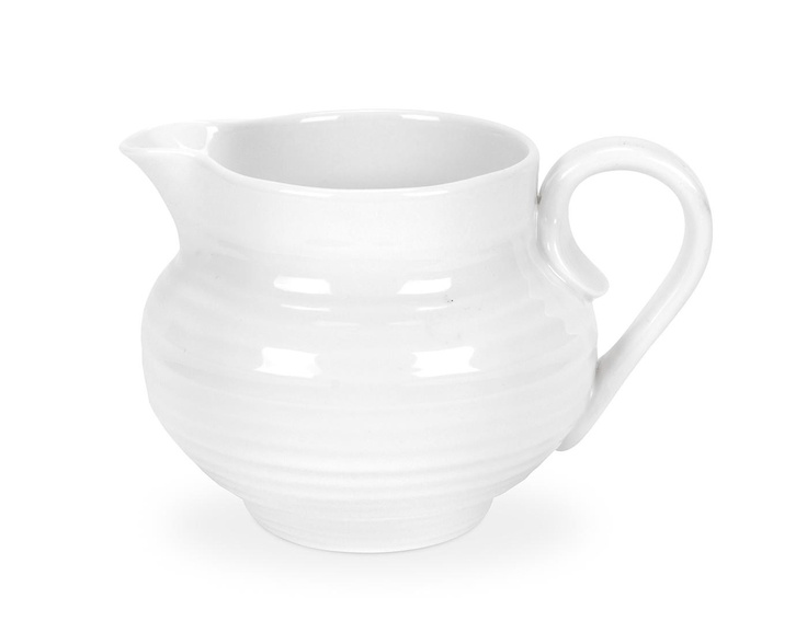 Sophie Conran White Cream/Milk Jugs is the perfect accompaniment to your teapot and covered sugar bowl. 0.28l (10 fl oz). Product Code: CPW76830.  Call 905·885·9250.