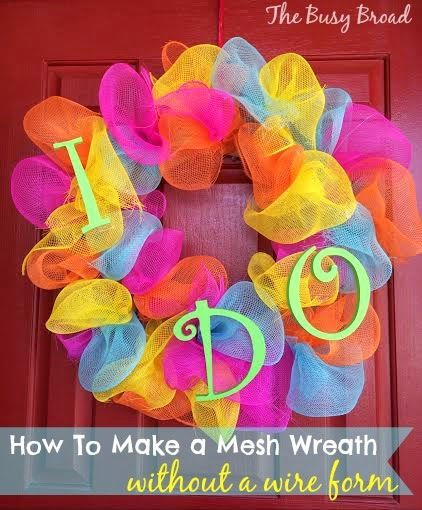 How To Make A Mesh Wreath On Wire Frame | How To Make A Mesh Wreath Without A Wire Form Wreaths Wreaths