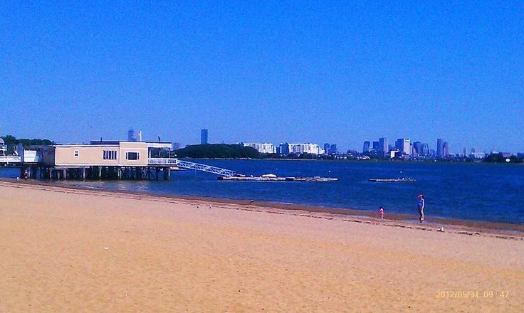 Wollaston Beach, Quincy, MA (Wollaston Yacht Club overlooking Boston).
