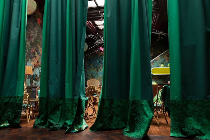 Glade Bar at Sketch Restaurant in London by Carolyn Quartemaine.  The emerald is so dramatic. I love it!