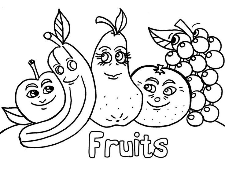 Fruit Coloring Pages For Preschoolers