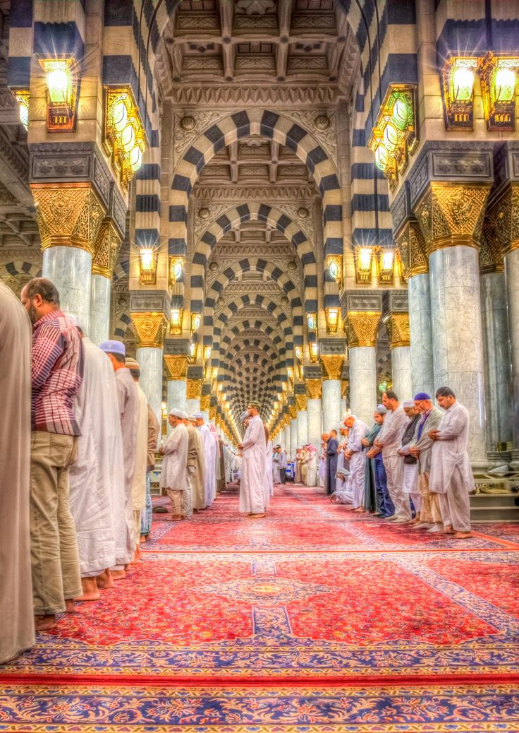 Wish all my family and friends join them for the Salaat including me. Inside the Prophet (PBUH) Mosque.