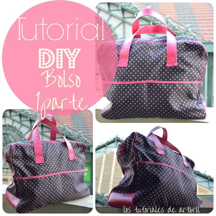 DIY tutorial bolso de mano. Con patrón gratis free pattern