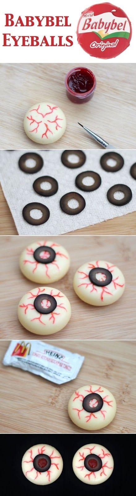 ojos sangrantes con quesitos Halloween