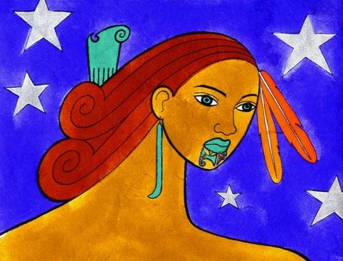 Hine Whetu (2003) Robyn Kahukiwa