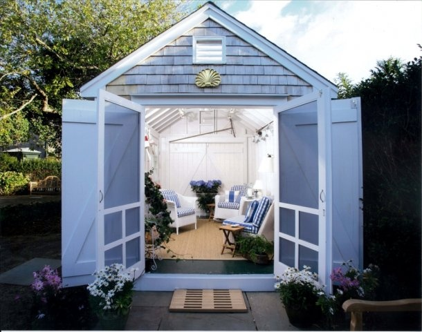 Spacious cabins sheds outdoor rooms pinterest for Outdoor garden rooms