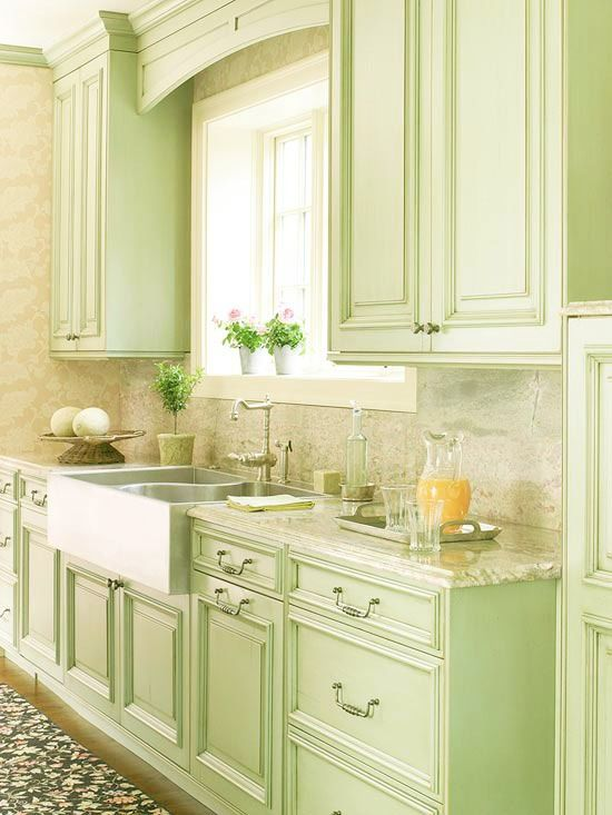 Best Kitchen In Light Spring Green And White So Country And 400 x 300