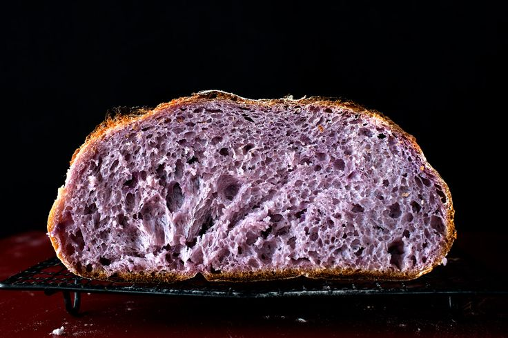 The blushing boule - Purple yam country bread