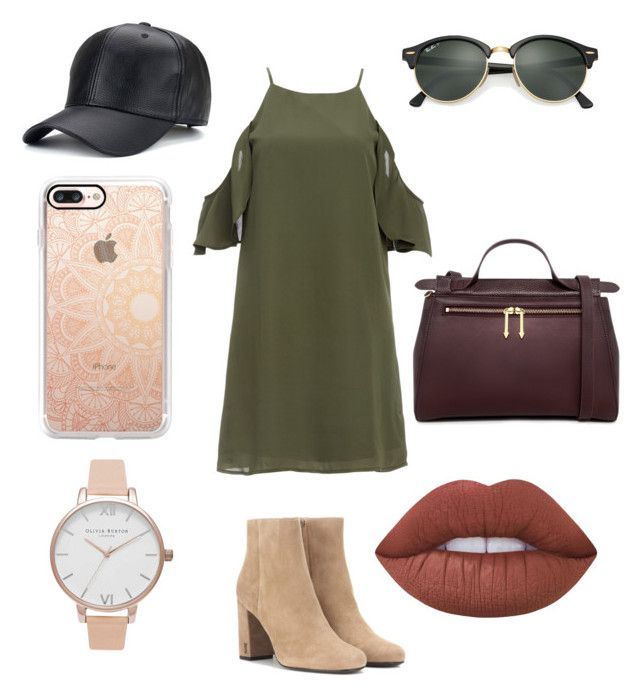 """👡"" by sophievanderkooy on Polyvore featuring DailyLook, Yves Saint Laurent, Karen Walker, Ray-Ban, Casetify, Lime Crime and Olivia Burton"