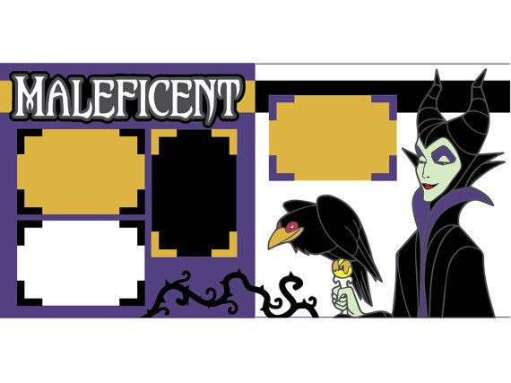 Maleficent by ScrapbookConcierge on Etsy