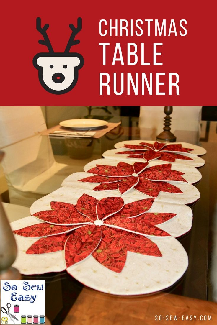 Christmas Table Runner and Some Beginner Quilting https://so-sew-easy.com/christmas-table-runner-quilting/ #tablerunner #chirstmas #sewing