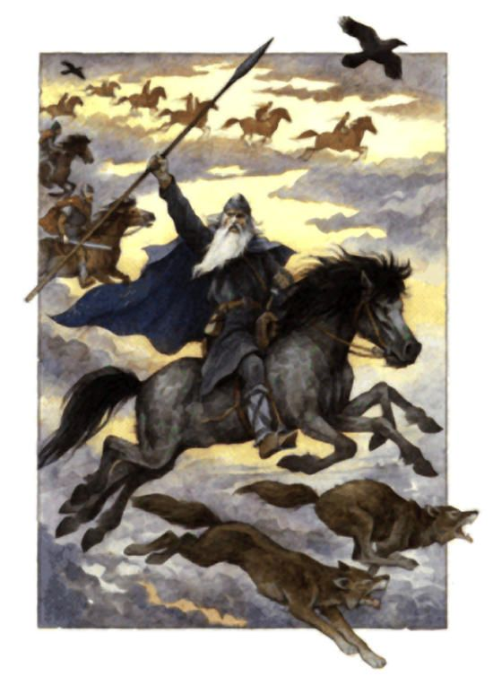The Wild Hunt, when the spectral Hunter/God/Hero rides with his fellows, beginning on Winter's Night and continuing through Mother's Night until Twelfth Night.