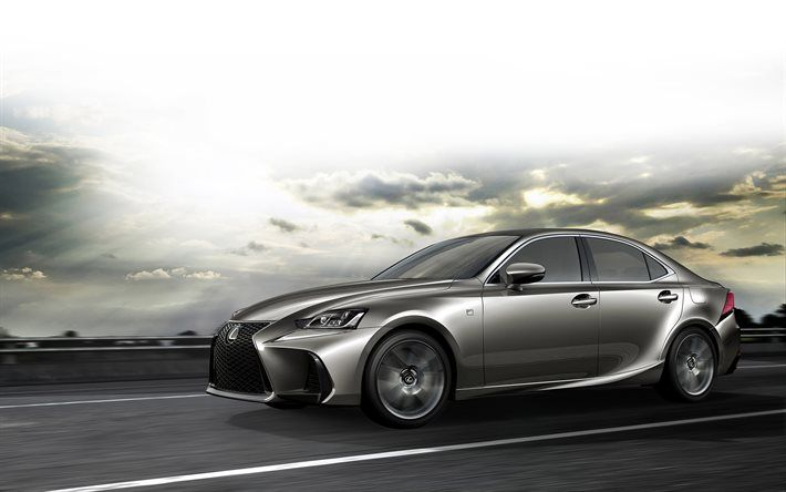 Lexus IS, 2017, new Lexus, silver Lexus, sedan, Lexus