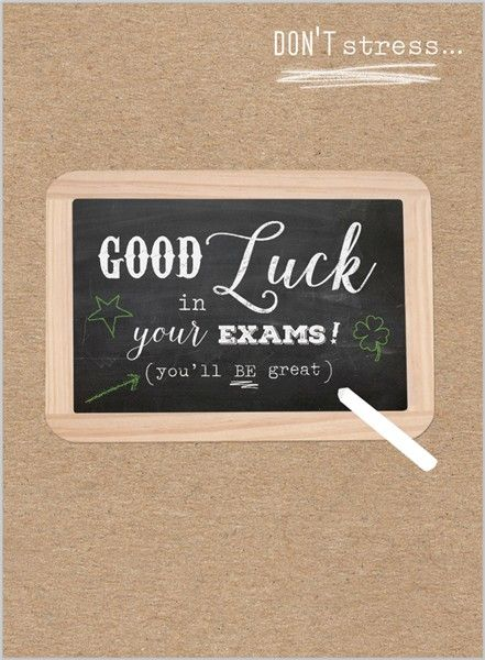 Everyday Ranges » M1571 » Exam Good Luck - Good Luck Chalkboard - Clare Maddicott Publications - Greeting cards, gift wrap & stationery