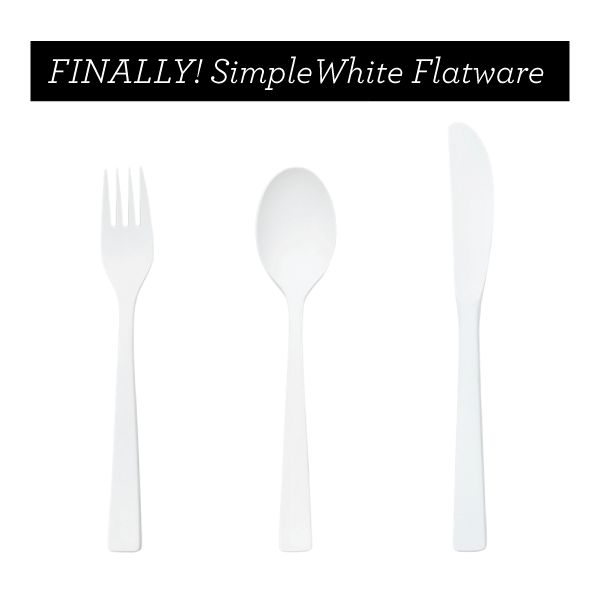 I need these in my life. WHITE MODERN FLATWARE BY KATE SPADESATURDAY